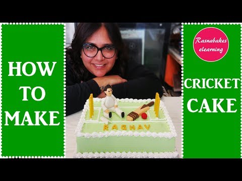 How To Make cricket cake:Cake decorating tutorial