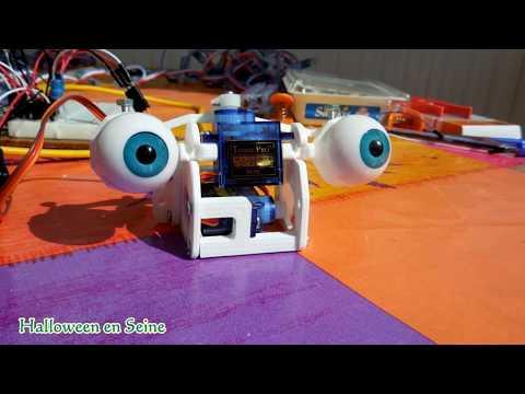 Animatronic Eyes and Arduino - Halloween animatronics puppet