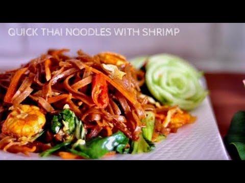 QUICK Thai Noodles with Shrimp | RecipesAreSimple