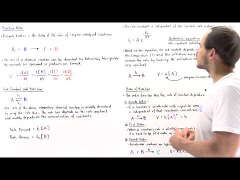 Effect of Enzymes on Rate Law and Rate Constant