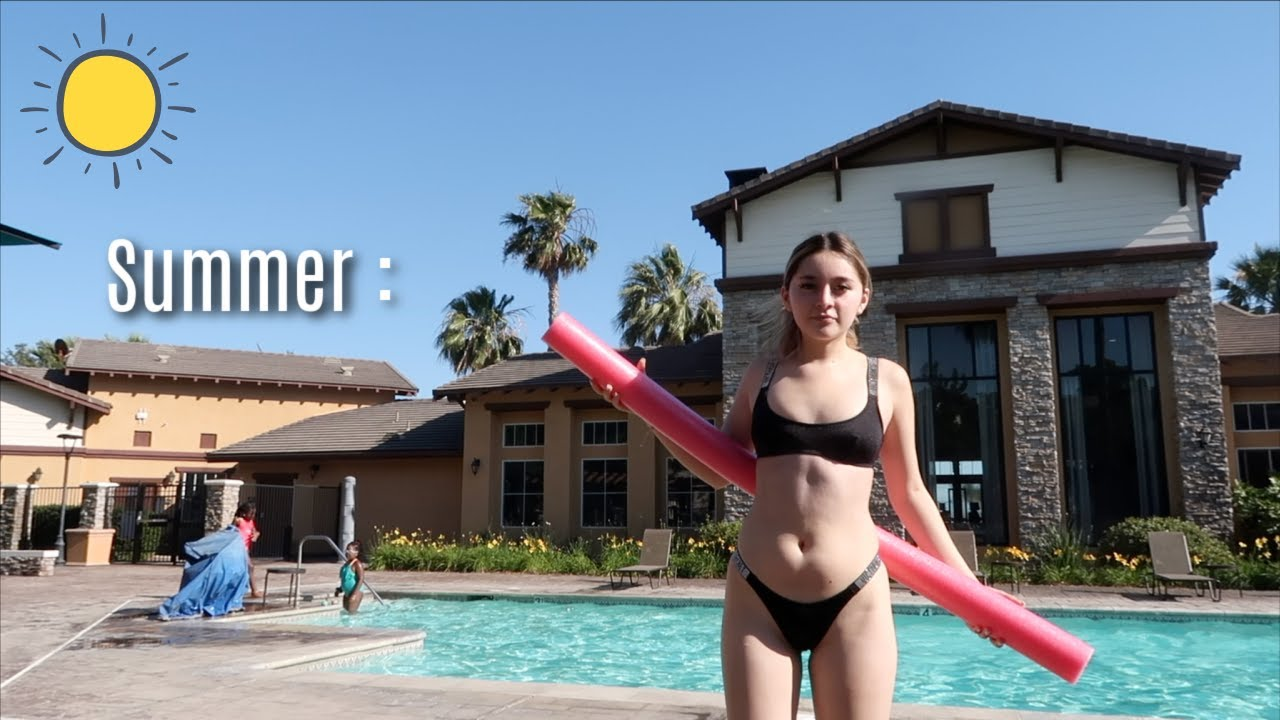 The first POOL DAY of the summer + shampoo prank on my BF | SUMMERMESS DAY 5