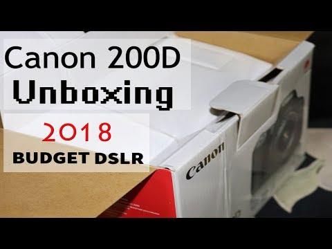 Canon 200D Unboxing & Review Bangla | Best cheap Dslr Camera 2018