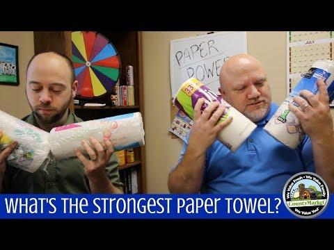 What's the Strongest Paper Towel? Test Comparison Experiment | 7 Different Brands