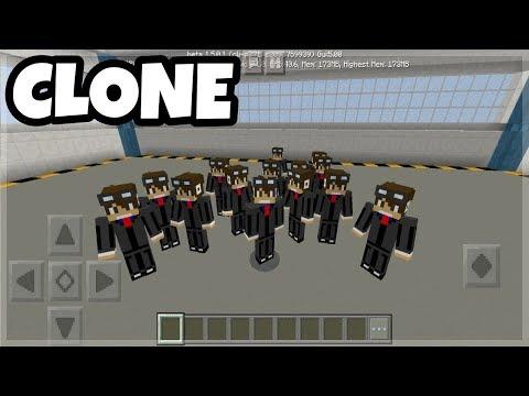 Minecraft PE: How to make CLONES Tutorials
