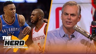 Colin Cowherd reacts to Westbrook-CP3 trade, says neither team 'won' the trade | NBA | THE HERD