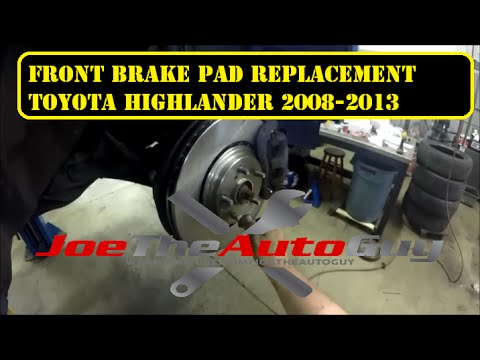 2008-2013 Toyota Highlander front brake pad  replacement