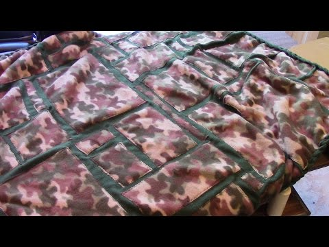 How to Make an Applique Fleece Blanket with Chain Border - Sewing Tutorial