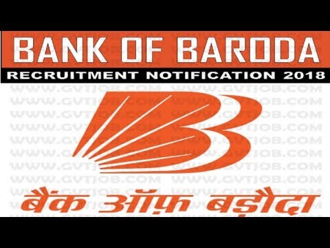 Bank of Baroda (BOB) Recruitment 2018 | Jobs All Over India | Jobs in Bank