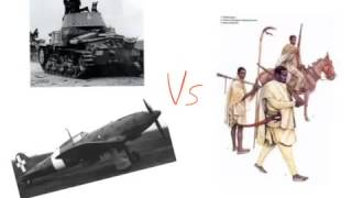 What happened during the Italian invasion of Abyssinia?