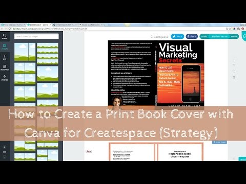 How to Create a Print Book Cover with Canva for Createspace (Strategy)