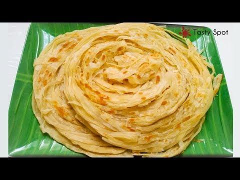 How To Make Layered Soft Parotta / Kerala Paratha / നല്ല നാടന് പൊറോട്ട - Recipe# 76