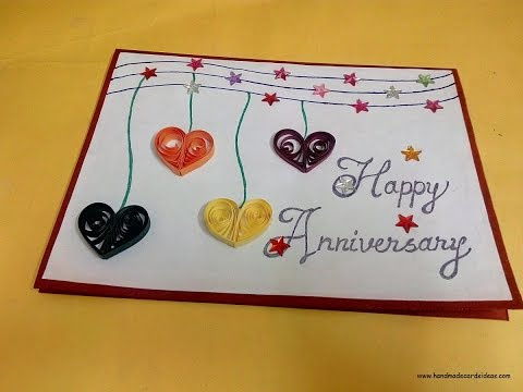 How to make a Handmade Anniversary Card for Husband | complete tutorial