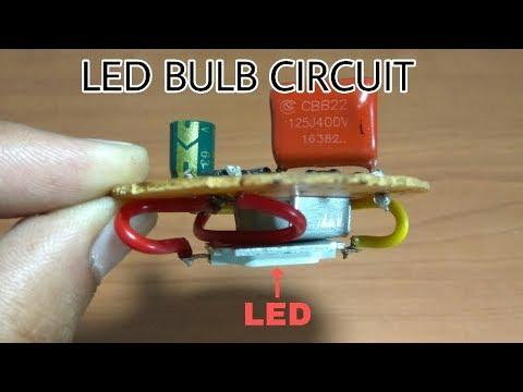 How to make a Circuit of LED BULB || Make a LED light Bulb easily