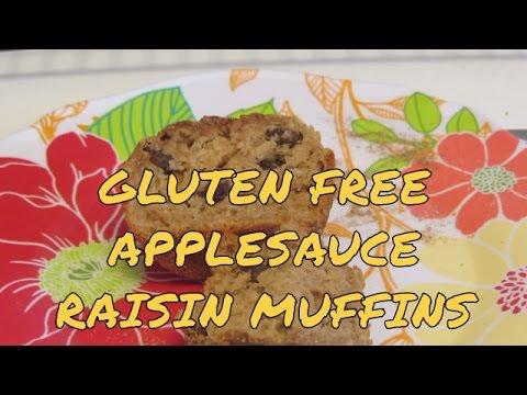 Gluten Free Applesauce Raisin Muffins