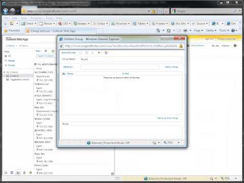 Outlook Web App - How to Edit Contacts