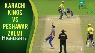 PSL 2017 Playoff 3: Karachi Kings vs. Peshawar Zalmi Highlights