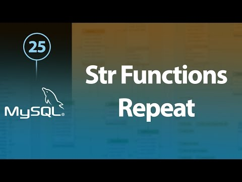 Learn MySQL In Arabic #25 - String Functions - Repeat, Reverse, Replace