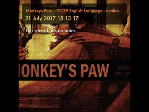 Monkeys Paw  - GCSE English Language - evaluate how tension is created.