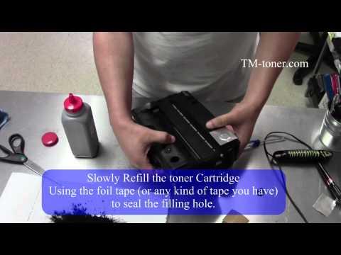 How to refill, reset toner cartridge for RICOH AFICIO SP 311DNW SP 311SFNW MFP
