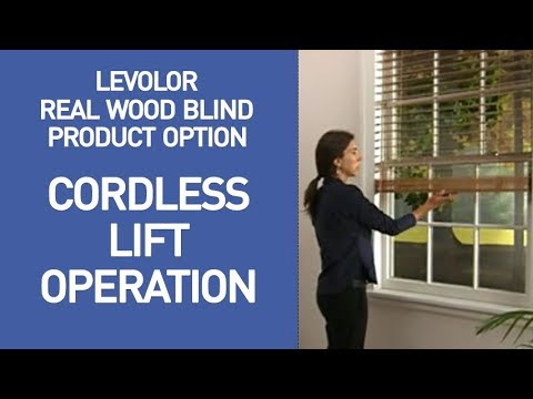 Levolor Cordless Wood Blinds Demo