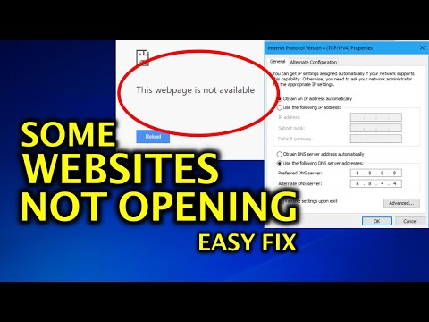 FIX - Some Websites Not Loading / Opening in any Browser - Easy Fix