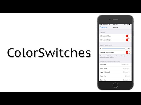 Change the Color of Toggle Switches on iOS | ColorSwitches Cydia Tweak Review
