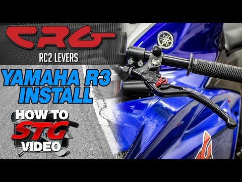 CRG Yamaha R3 RC2 Lever Install | Sportbike Track Gear
