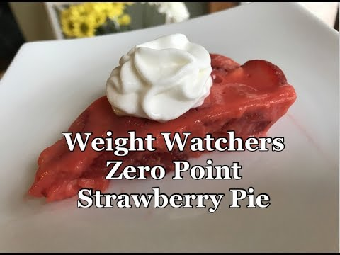 Weight Watchers Zero Point Crust-less Strawberry Pie