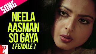 Neela Aasman So Gaya (Female) Song   Silsila   Amitabh Bachchan   Rekha