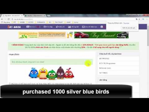 Free Money with birds at Sky-Birds - Make money online