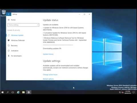 How to Install Updates On Server 2016