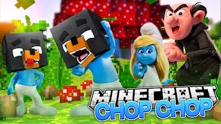 Minecraft CHOP CHOP -  DONUT TURNS INTO A SMURF & GETS CHOPPED UP - Donut the Dog Minecraft Roleplay