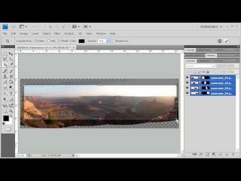 2.15 Using Photomerge to Create a Panoramic Image: Adobe Photoshop CS4 Video