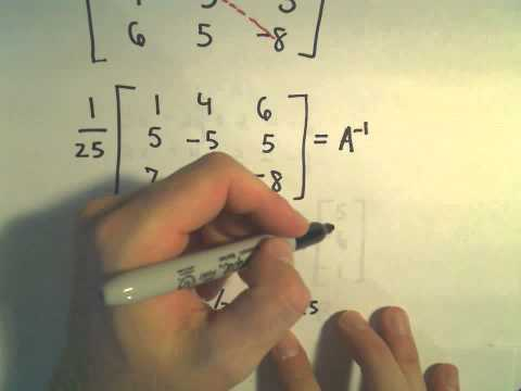 Solving a 3 x 3 System of Equations Using the Inverse