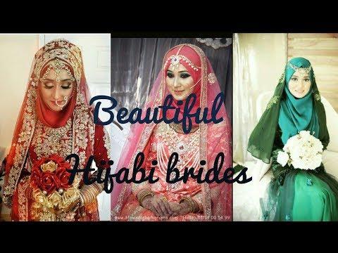 Most beautiful muslim brides in hijab   hijabi dulhans