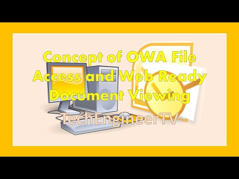 Concept of OWA File Access and Web Ready Document Viewing