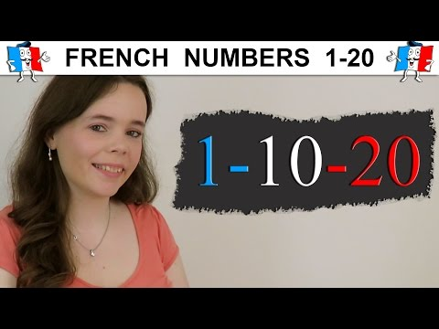 LEARN FRENCH NUMBERS 1-20 | COUNTING TO 20 IN FRENCH