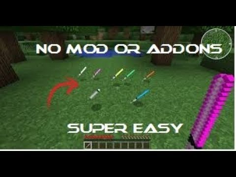 how to make a lightsaber in minecraft no mods