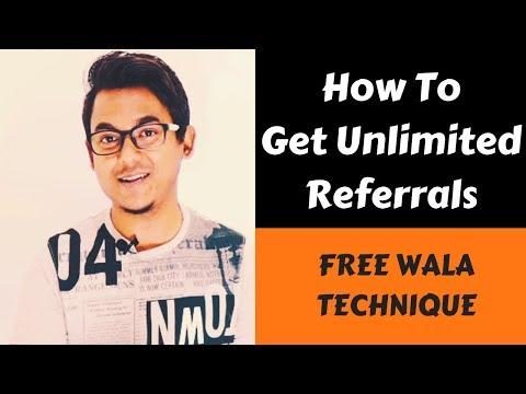 Secret method to get unlimited referrals - No investment free method
