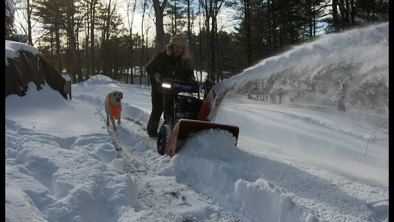 Testing new snowblowers