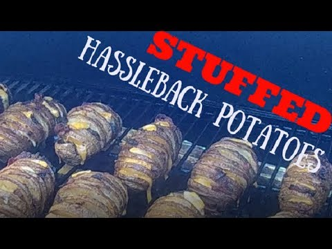 Grilled Loaded Hasselback Potatoes
