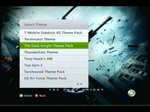 How to change your xbox 360 theme.