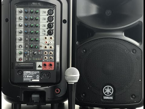 Portable PA System Setup for Musicians Bands Conferences Live Events|Yamaha Stagepass
