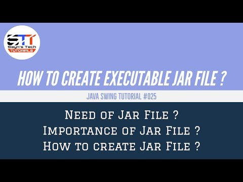 How to Create Executable Jar File | Java Swing Tutorial #025