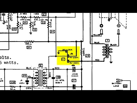 Electrolytic Capacitor Polarity how to figure it out using power supply wiring diagram