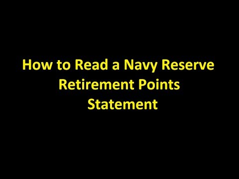 Episode 0030 - How to Read an Navy Reserve Retirement Points Statement
