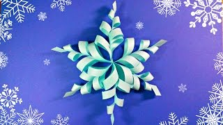 Modular 3d origami snowflake frozen easy star paper tutorial.christmas diy paper snowflakes