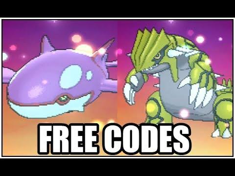 Obtaining Shiny Groudon and Shiny Kyogre (FREE CODES)