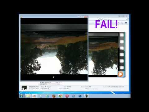 windows plays iPhone videos upside down.