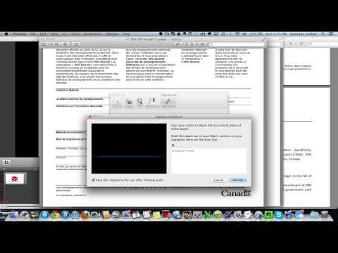 Numériser votre signature avec Mac et signer PDF